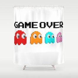 Pacman Game Over Shower Curtain