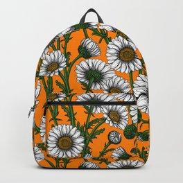 Daisies on orange Backpack