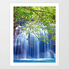 Erawan waterfall Art Print