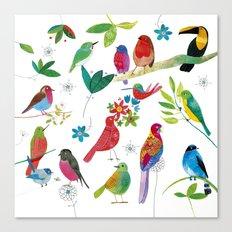 Birds meeting Canvas Print