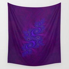 Velvet Dragon Fractal - Violet Wall Tapestry