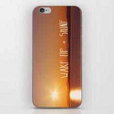wake up + shine! iPhone & iPod Skin