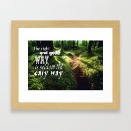 Easy Way Framed Art Print