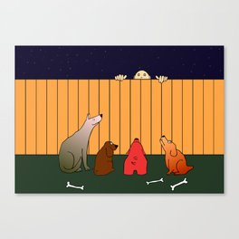 At The Bad Time On The Bad Place Canvas Print