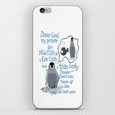 Baby penguins Funny New Year's resolution iPhone & iPod Skin