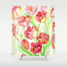 Mothers Day Tulips Shower Curtain