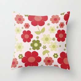 Flowers: Carnaby Flowers Throw Pillow