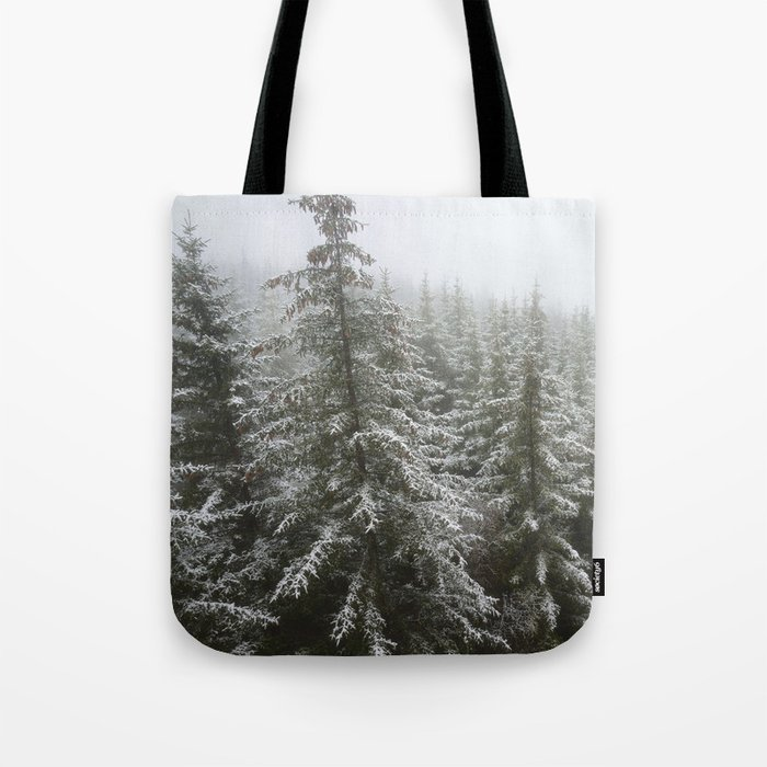 Frosty Forest Tote Bag