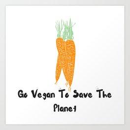 Vegan world Art Print