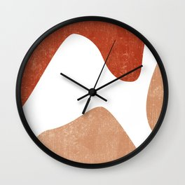 Terracotta Art Print 7 - Terracotta Abstract - Modern, Minimal, Contemporary Print - Burnt Orange Wall Clock