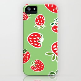 Greenie Strawberries iPhone Case