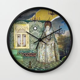 Between Worlds Wall Clock