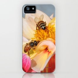 Honeybees at Work iPhone Case