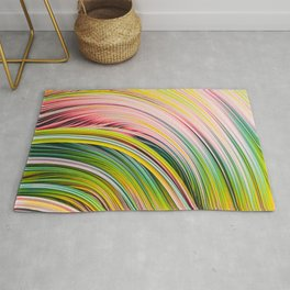 Colorful Strands. Abstract Art Rug
