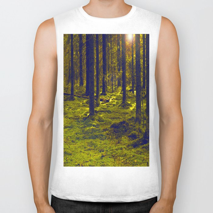 Green Forest #decor #society6 Biker Tank