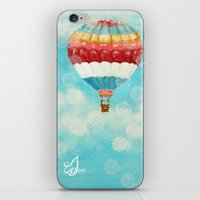 hot air balloons iPhone & iPod Skins featuring Hot Air Balloons 1 by Music of the Heart