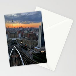 Skyline Mirror Sunset Stationery Cards