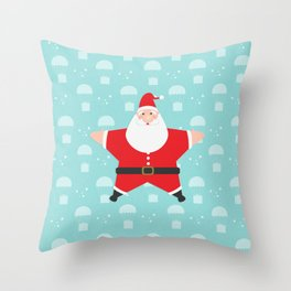 Santa Claus Starmas Throw Pillow