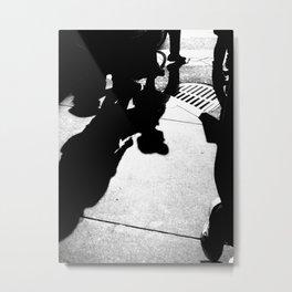 Urban Street Photograhy Black and White Modern Wall Art  Metal Print
