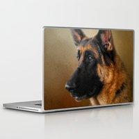 german shepherd Laptop & iPad Skins featuring Best in Show - German Shepherd by Jai Johnson