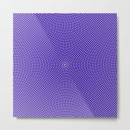 Star Spiral Over Puple/Blue Metal Print