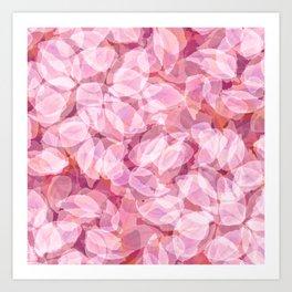 Spring Cherry Blossom Flower Pattern, Delicate Lavender Pink Floral Design Art Print