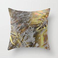 Golden Mountains Snow Glow Throw Pillow