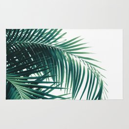 Palm Leaves Green Vibes #6 #tropical #decor #art #society6 Rug