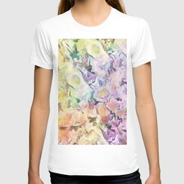 Vintage Soft Pastel Floral Abstract T-shirt