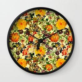 Floriculture Wall Clock