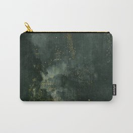 Nocturne In Black And Gold The Falling Rocket By James Mcneill Whistler | Reproduction Carry-All Pouch