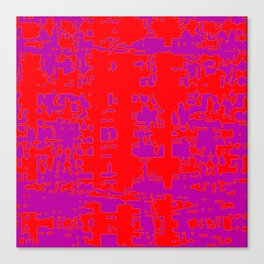 jitter, red violet, 3 Canvas Print
