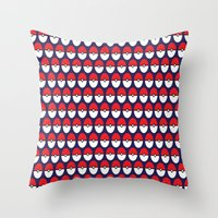 pokeball Throw Pillows featuring Pokeball Pattern by Jennifer Agu