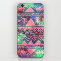 techno iPhone & iPod Skins featuring Techno Native by Schatzi Brown