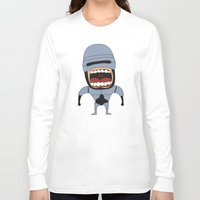 robocop Long Sleeve T-shirts featuring Screaming Robocop by That Design Bastard