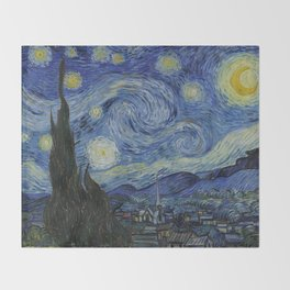 The Starry Night Throw Blanket