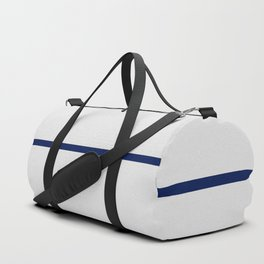 Contemporary modern navy blue off white geometrical Duffle Bag