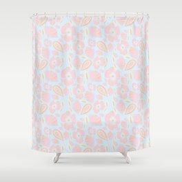 Pastel Dancing Floweres Shower Curtain
