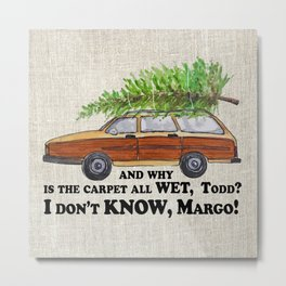 Why is the carpet all wet, Todd? Metal Print