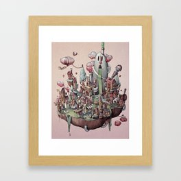 Floating Island Framed Art Print