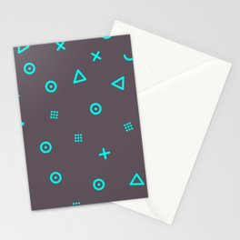 Happy Particles - Grey Stationery Cards