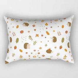 children hedgehog pattern, forest design Rectangular Pillow