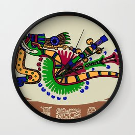 Quetzalcoatl II Wall Clock