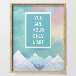 Your Only Limit Quote Serving Tray