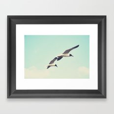 Come fly with me, let's fly, let's fly away Framed Art Print