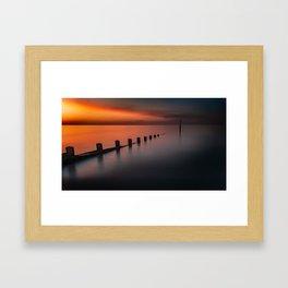 Seascape Sunset Framed Art Print