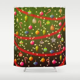 Look at these Christmas decorations! Shower Curtain