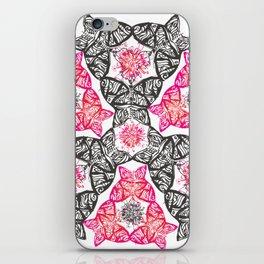 Pop pink and black butterflies iPhone Skin