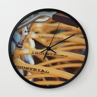 industrial Wall Clocks featuring Industrial by Alicia Bock
