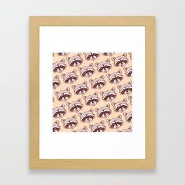 Happy raccoon Framed Art Print